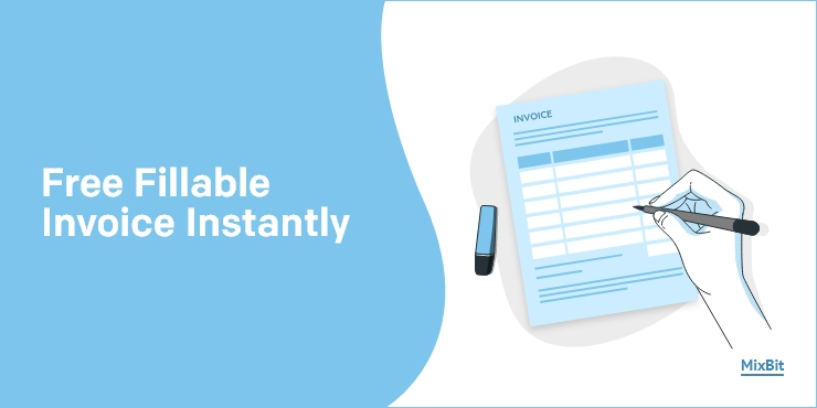 Get Free Blank Fillable Pdf Invoice Template Online In Word