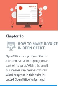 make an invoice in open office