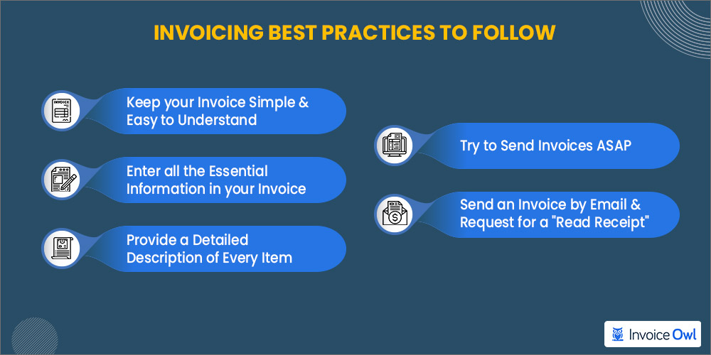 Invoicing best practices to follow