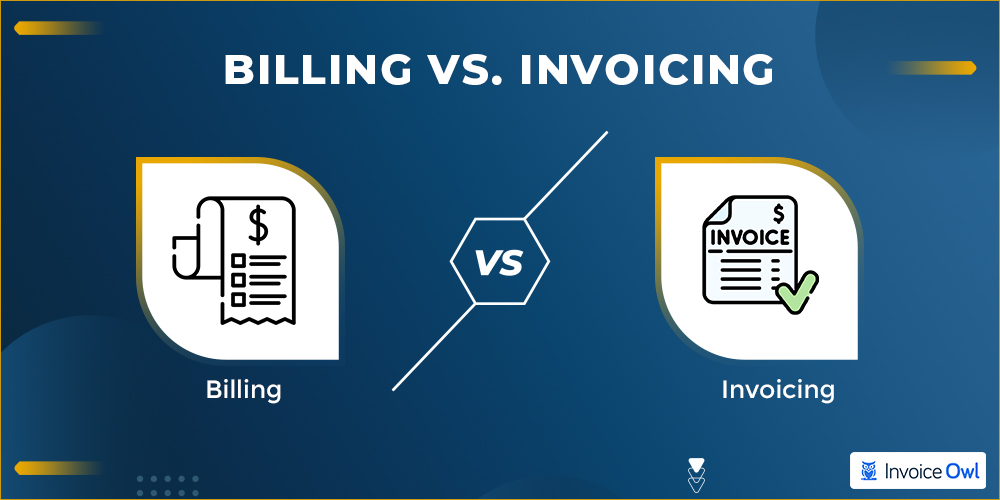 Difference between an invoice and a bill
