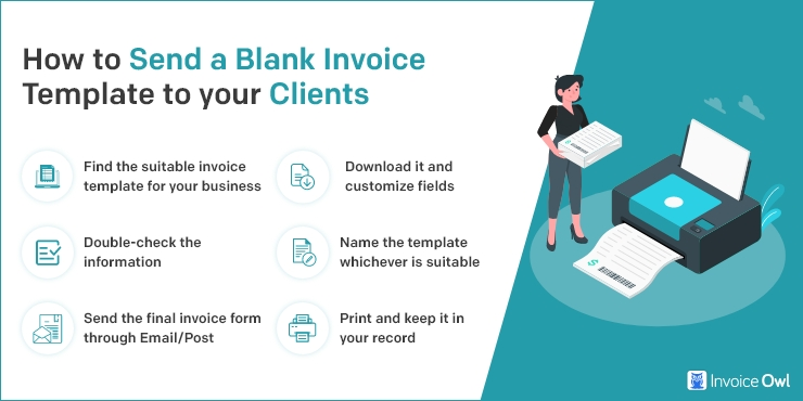 How to send a blank invoice template to your clients?