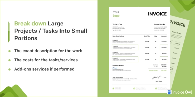 Break Down Large Projects/Tasks into Small Portions