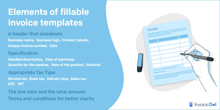 Elements of Fillable Invoice Templates