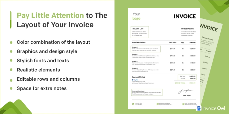 Pay Little Attention to the Layout of Your Invoice