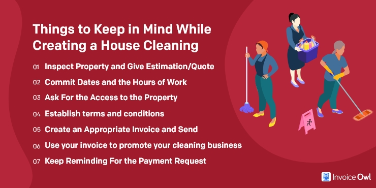 Things to Keep in Mind While Creating a House Cleaning Invoice