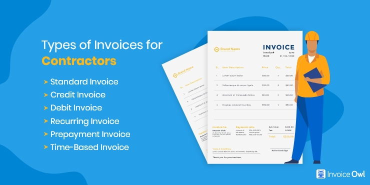 Types of Invoices for Contractors