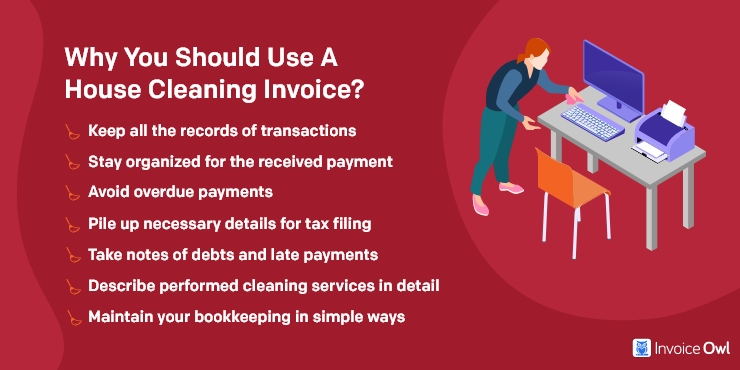 Why You Should Use A House Cleaning Invoice?
