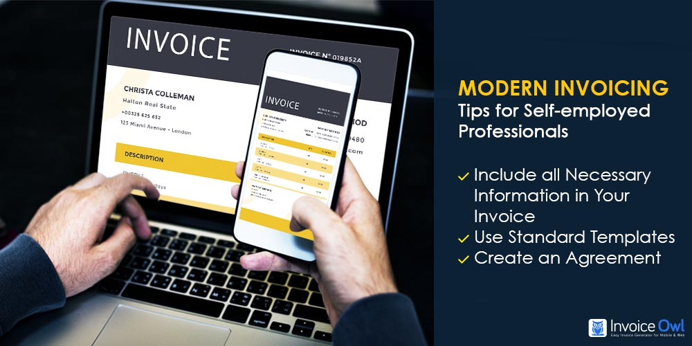 Modern invoicing tips for self-employed professionals