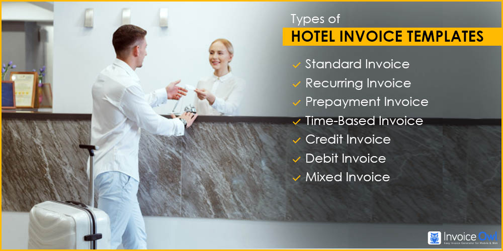 Types of Hotel Invoice Template