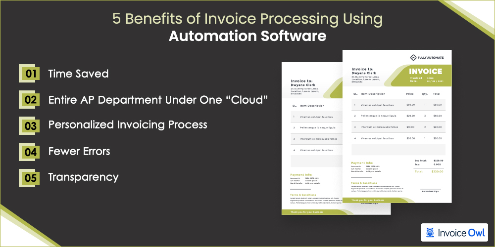 Benefits of invoice processing using automation software