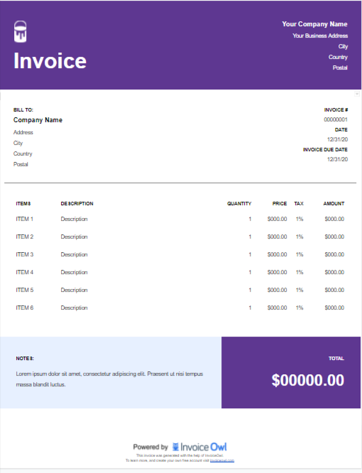 How To Create The Perfect Painting Invoice Template Guide Free Samples