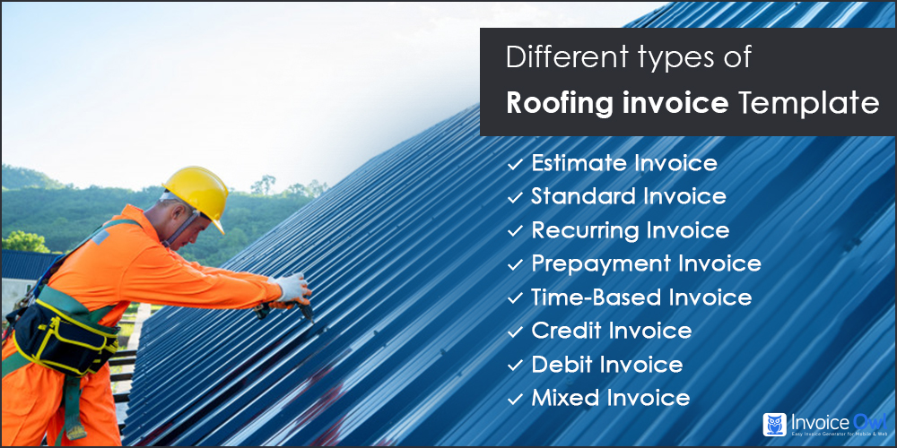 Different Types of Roofing Invoice Templates