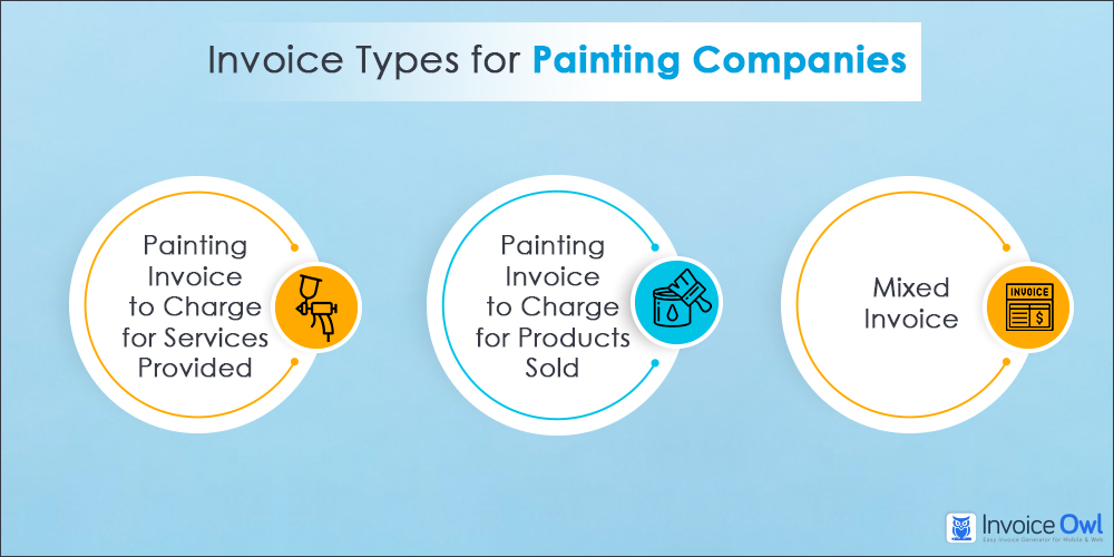 Types of painting invoice templates