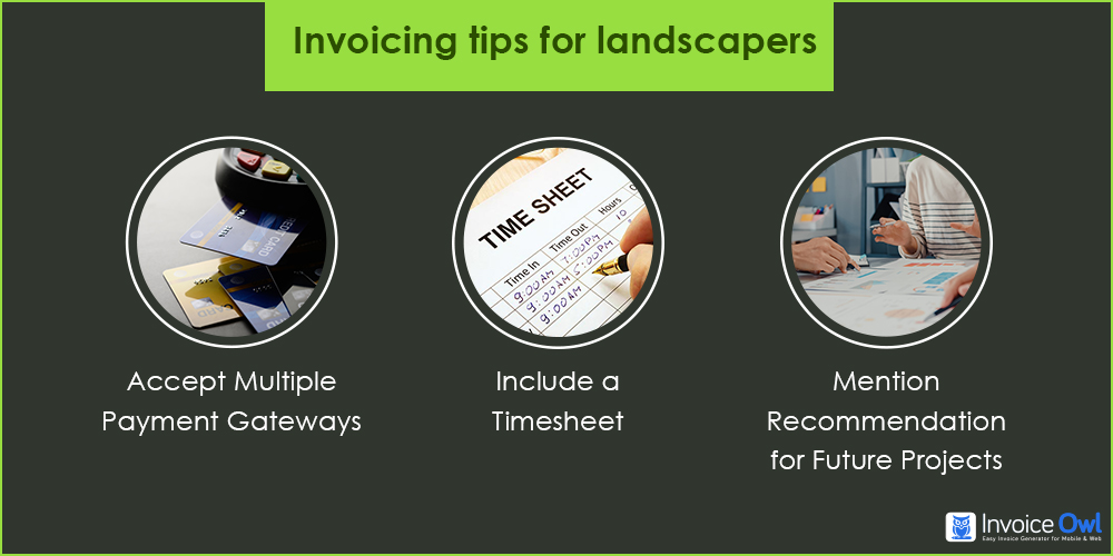 Invoicing tips for landscapers