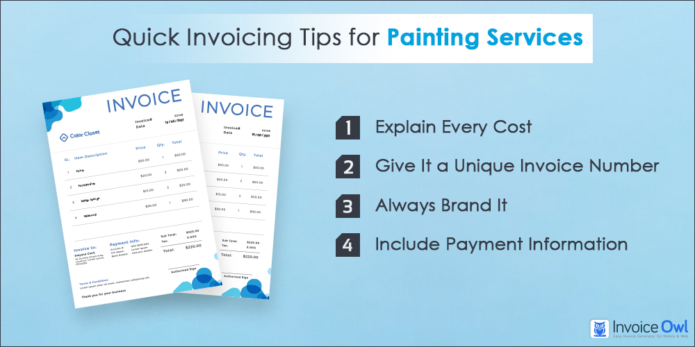 Invoicing tips for painting services