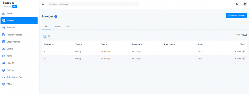 How to create purchase invoice