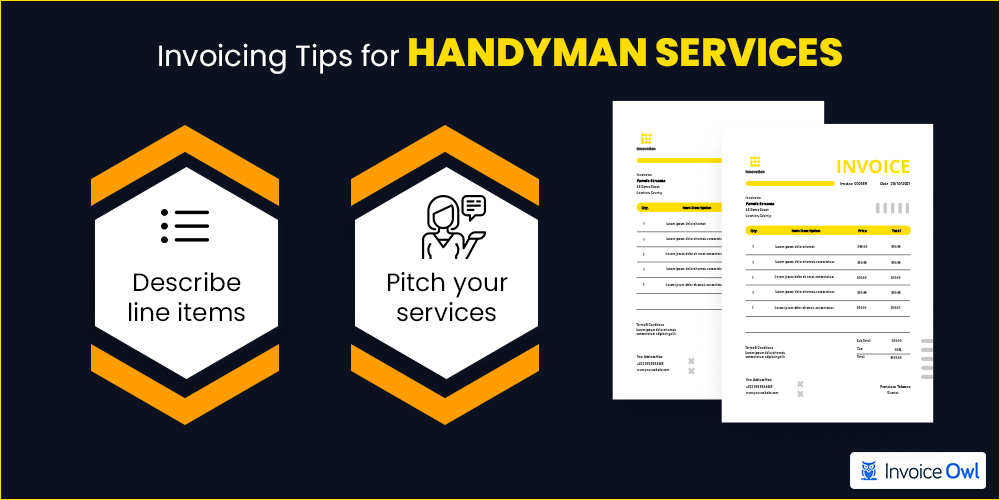 Invoicing tips for handyman services