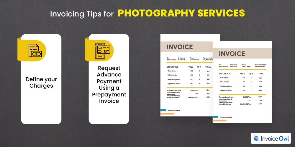 Invoicing tips for photography services