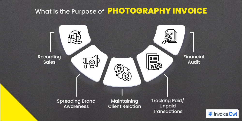 Purpose of photography invoice