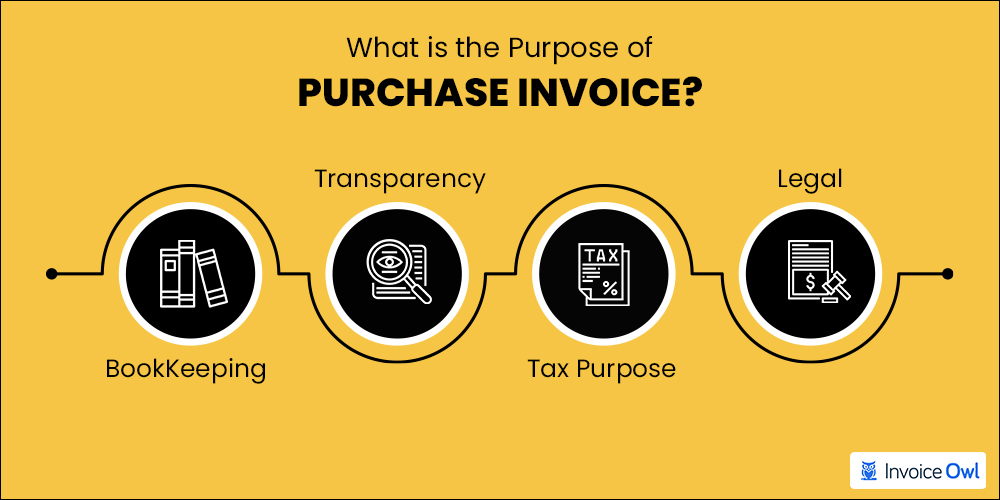 What is the purpose of purchase invoice?