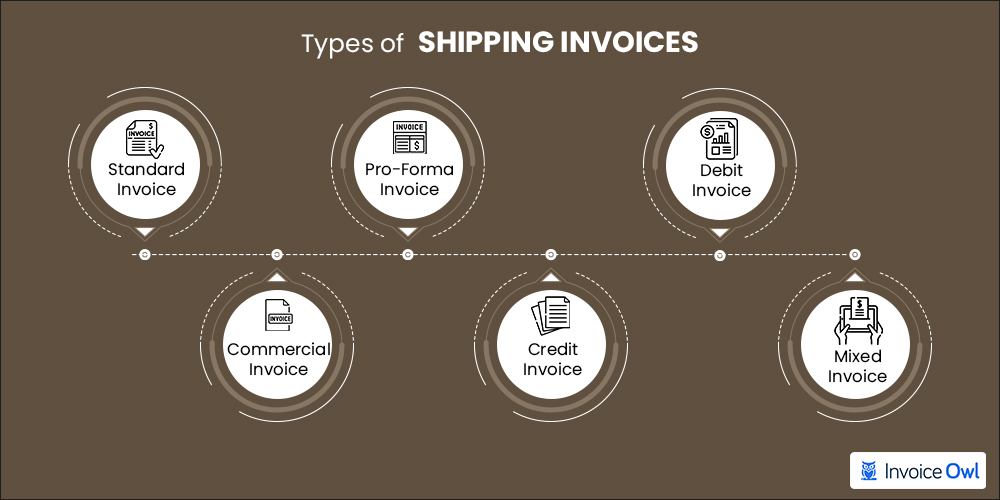 Types of shipping invoices