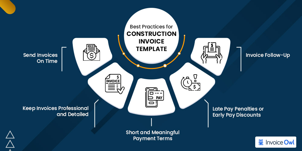 Best practices for construction invoice template